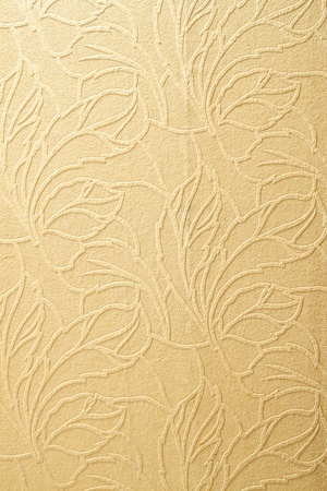 Beautiful wallpaper with floral design photo
