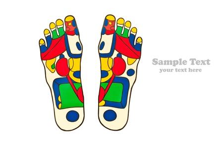 massage pied: Points de r�flexologie pieds massage  Banque d'images