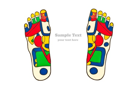 Reflexology foot massage points  Stock Photo - 9010312