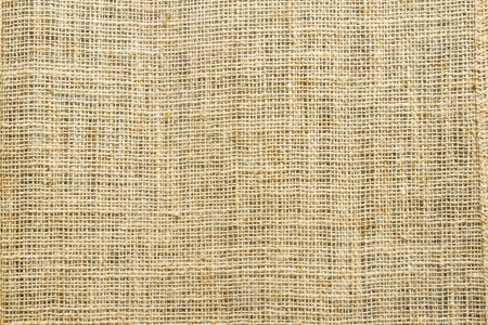 Close-up of natural burlap for Background  and texture photo