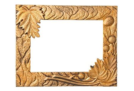 Old photo frame isolated on white background photo