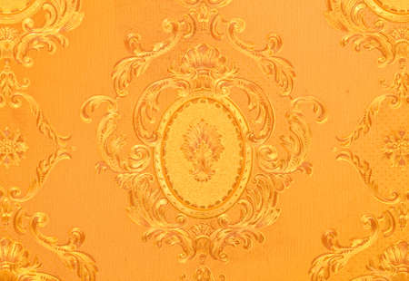 Old gold wallpaper : Traditional Thai style Stock Photo - 9197115