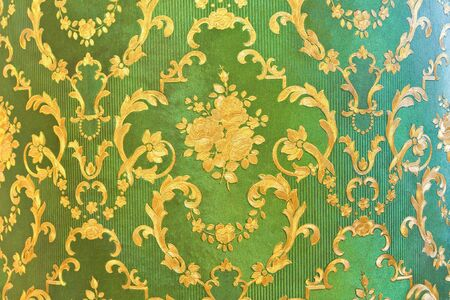 Old green wallpaper : Traditional Thai style photo
