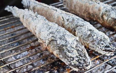 snakehead: Freshwater fish Grill,Striped snakehead fish
