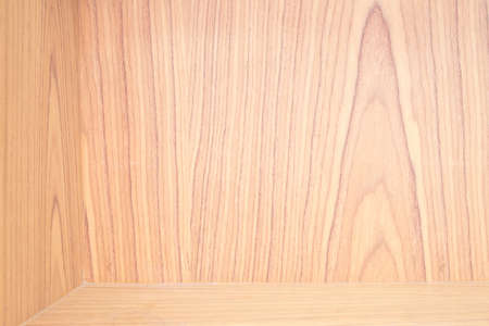Empty wood shelf on wooden wall Stock Photo - 9637404