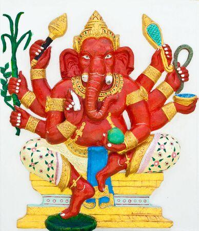 siddhivinayaka: Indian or Hindu God Named Taruna Ganapati at Wat Saman, Chachoengsao, Thailand