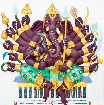Indian or Hindu God Named Vira Ganapati at Wat Saman, Chachoengsao, Thailand photo