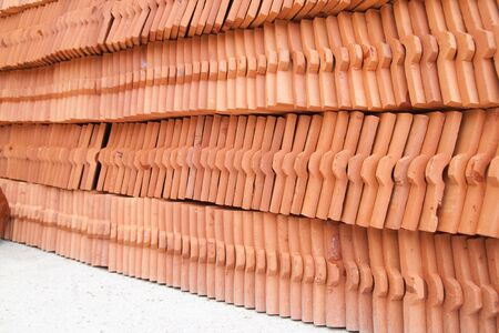 Stack Of Ceramic Roof Tiles Photo