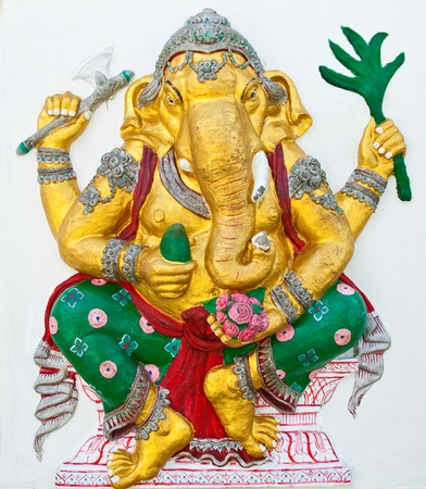 Indian or Hindu ganesha God Named Siddhi Ganapati at temple in thailand ;The conviction will be used hand to apply to the Lord for get the wishes. Stock Photo - 10400010