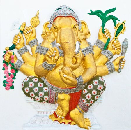 siddhivinayaka: Indian or Hindu ganesha God Named Vighna Ganapati at temple in thailand ;The conviction will be used hand to apply to the Lord for get the wishes.