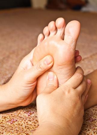 Fußreflexzonenmassage, Wellness-Fußbehandlung, Thailand Standard-Bild - 10416670
