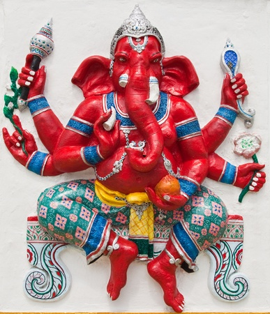 Indian or Hindu ganesha God Named Kasipa Porasada Ganapati at temple in thailand ;The conviction will be used hand to apply to the Lord for get the wishes. Stock Photo - 10482676
