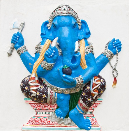 Indian or Hindu ganesha God Named Ekdanta Ganapati at temple in thailand ;The conviction will be used hand to apply to the Lord for get the wishes. Stock Photo - 10482677