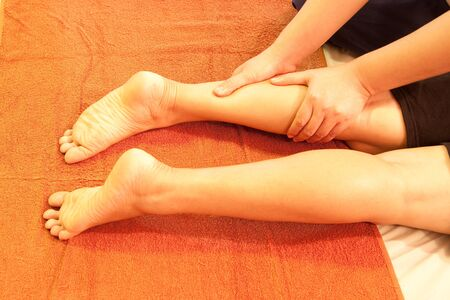 reflexology leg massage,Thai traditional massage,Thailand. Stock Photo - 10611590