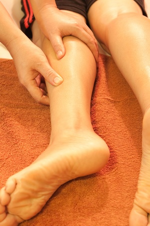 reflexology leg massage,Thai traditional massage,Thailand. Stock Photo - 10611589