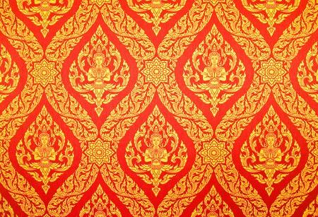 Traditional Thai style painting art in Thai temple,Thailand Standard-Bild