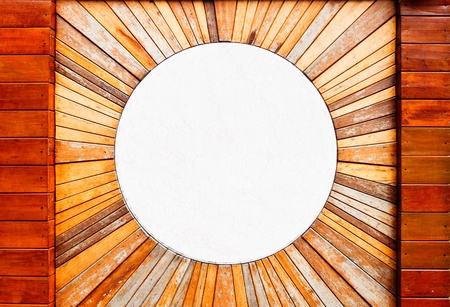 Vintage wood pattern texture and circle marble for background photo