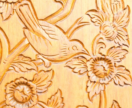 Thai style wood carving Stock Photo - 11347798