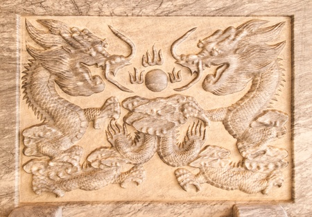 craft on marble: dragons relief on marble