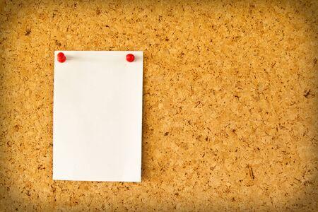 Paper on the cork board photo