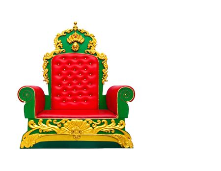 luxury red leather armchair isolated on white background Stock Photo - 11875637