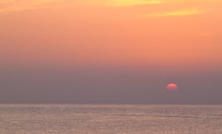 Sunrise over the sea in countryside,Hua Hin-Thailand photo