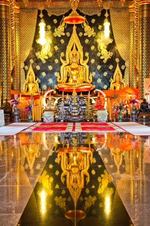 Golden buddha in thai temple,Loei Province,Generality in Thailand, any kind of art decorated in Buddhist church etc. created with money donated by people, no restrict in copy or use