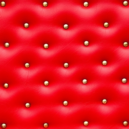 pattern bed: Red leather pattern with knobs,Texture for Background Stock Photo