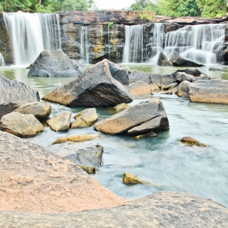 Waterfall in National park ,Chaiyaphum Province in Northeast of Thailand.  photo