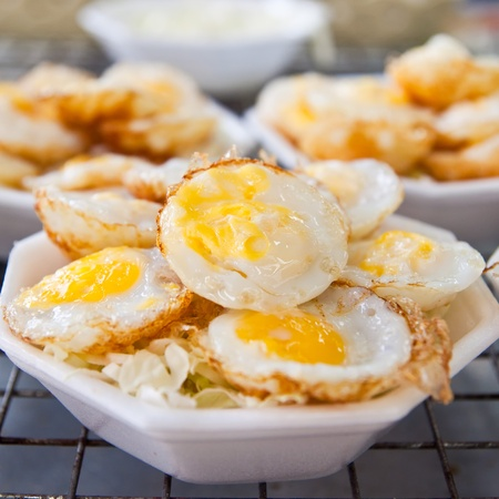 sweetmeat: kind of Thai style dessert with Quail eggs  Stock Photo