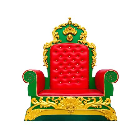 luxury red leather armchair isolated on white background Stock Photo - 17370457