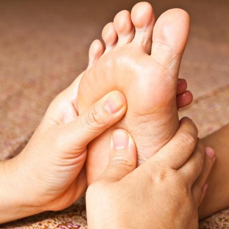reflexology foot massage, spa foot treatment,Thailand Stock Photo - 17949148