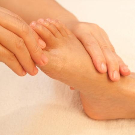 reflexology foot massage, spa foot treatment,Thailand Stock Photo - 17949102
