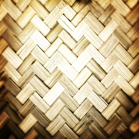 Native Thai style bamboo weave texture abstract for background photo
