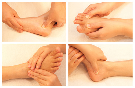 Collection of reflexology foot massage photo