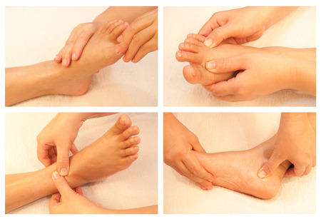 Collection of reflexology foot massage Stock Photo - 26420366