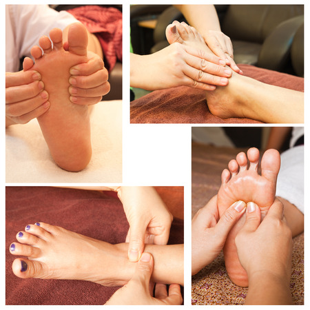 Collection of reflexology foot massage Stock Photo - 26420367