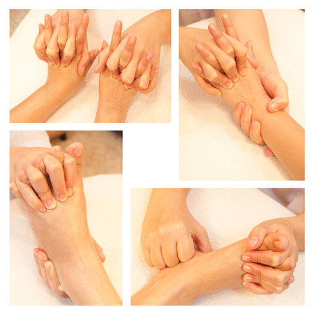 Collection of reflexology foot massage Stock Photo - 26420369