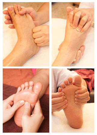 Collection of reflexology foot massage Stock Photo - 26420376