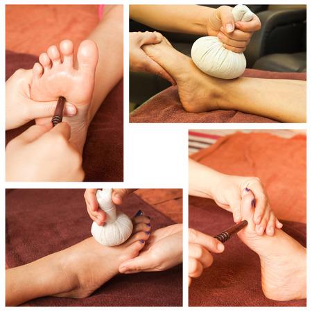 Collection of reflexology foot massage photo