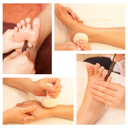 Collection of reflexology foot massage Stock Photo - 26417465