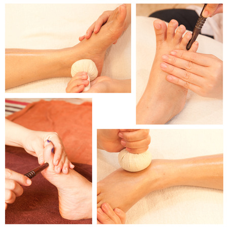 Collection of reflexology foot massage Stock Photo - 26417466