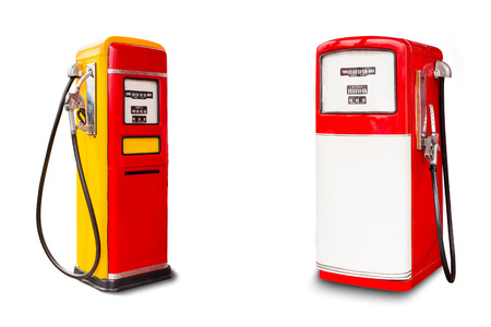 retro fuel dispenser on white background  photo