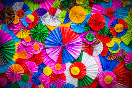Colorful paper flower abstract for background