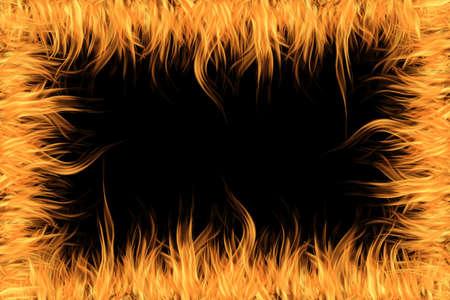 orange fire on black background