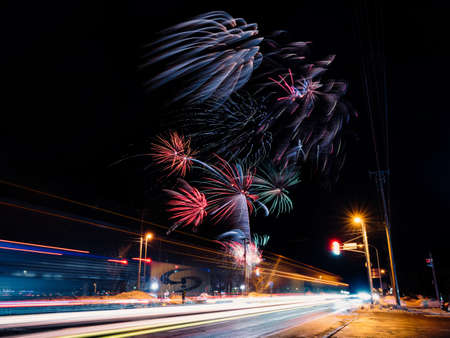 Fireworks Standard-Bild - 167122901