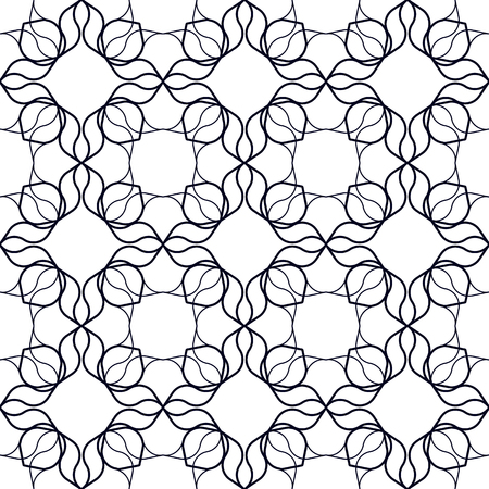 one colour: Abstract geometrical background with wavy organic shapes. Seamless repeat pattern.