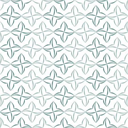 allover: Pattern of stylized four-petal flowers set in stripes on white background. Seamless repeat.