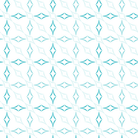 allover: Abstract geometric pattern of light blue curved diamonds on white background. Seamless repeat.