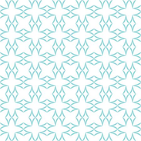 latticework: Abstract geometric pattern. Lattice of light blue curved diamonds on white background. Seamless repeat. Illustration
